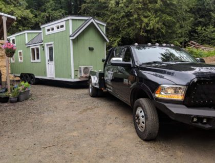 Bumper pull tiny home transportation